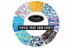Tropical Print Swim Shorts