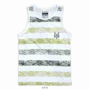 <b>Striped Colorblock Tank Top </b> <br>ZY-01 | Black/Green