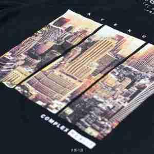 <b>Skyscraper Skyline Graphic T-Shirt</b> <br>CO-108 | Black