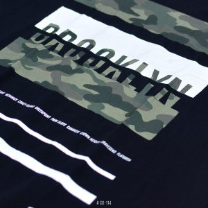 <b>Camo Brooklyn Graphic T-Shirt</b> <br>CO-114 | Black