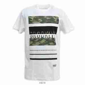 <b>Camo Brooklyn Graphic T-Shirt</b> <br>CO-114 | White