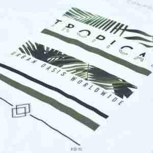 <b>Tropical Graphic T-Shirt</b> <br>CO-115 | White