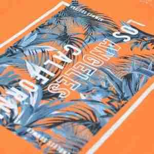 <b>Palm Leaves Graphic T-Shirt</b> <br>CO-117 | Orange