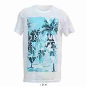 <b>Palm Triangles Graphic T-Shirt</b> <br>CO-118 | White