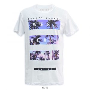 <b>West Coast Graphic T-Shirt </b> <br>CO-119 | White