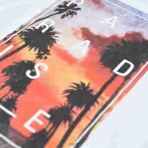 <b>Graphic Paradise Sunset T-Shirt </b> <br>CO-122 | White