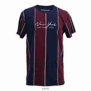 <b>Colorblock New York T-Shirt </b> <br>CO-124 | Navy/Burgundy